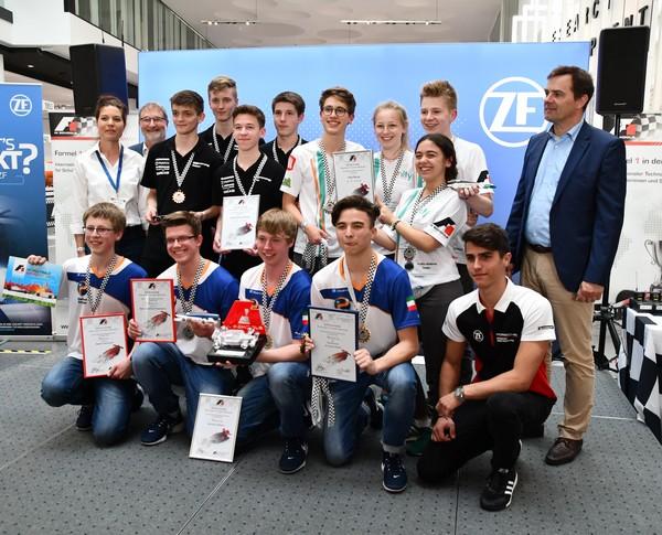 Podium Senioren Formel 1 in der Schule Deutsche Meisterschaft 2018