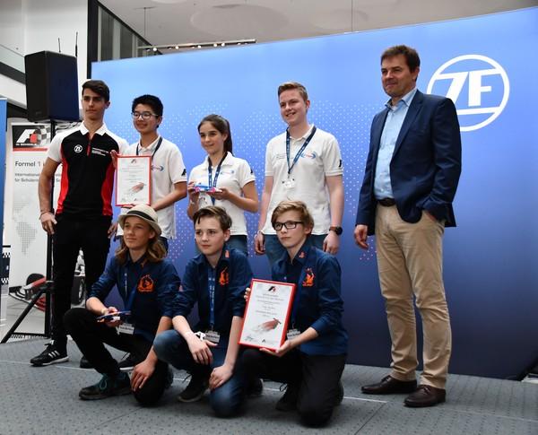 Schnellstes Auto Junioren Time Surfers Evispo Formel 1 in der Schule Deutsche Meisterschaft 2018