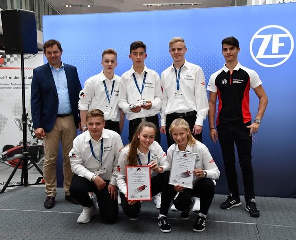 10. Platz Senioren-Team Wi vom Dörp Formel 1 in der Schule Deutsche Meisterschaft 2018