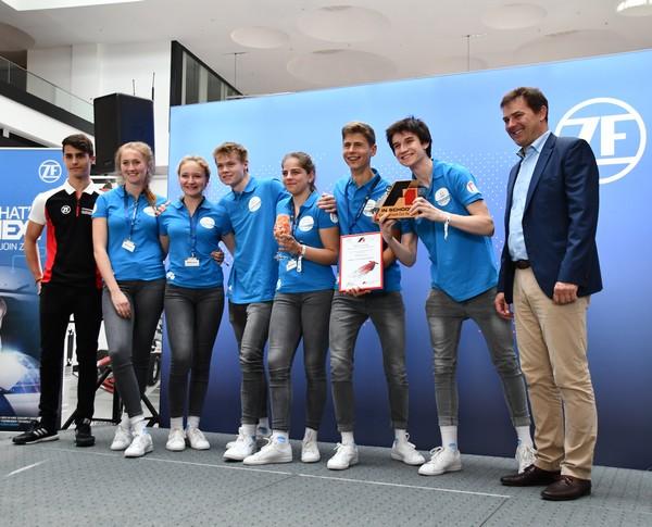 Sieger Knockout-Rennen MCGravity Formel 1 in der Schule Deutsche Meisterschaft 2018