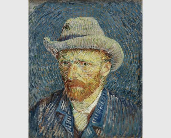 Van Gogh, Selbstportrait mit Filzhut